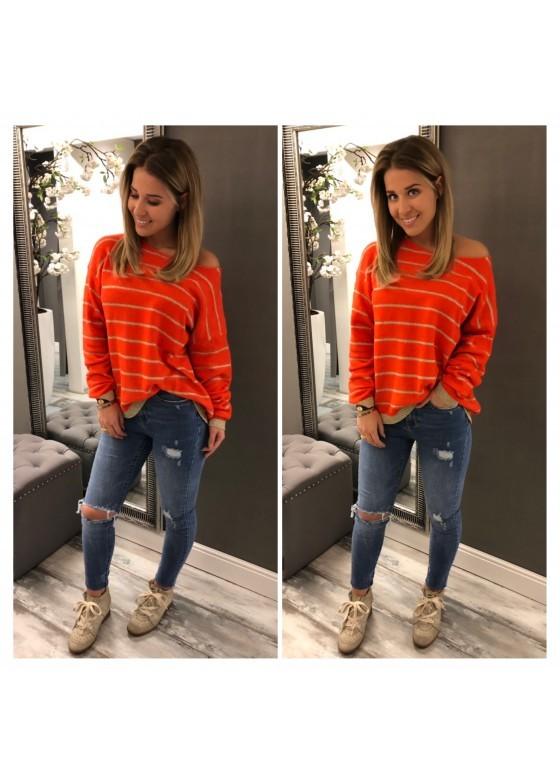 Sweater Orange / Gold
