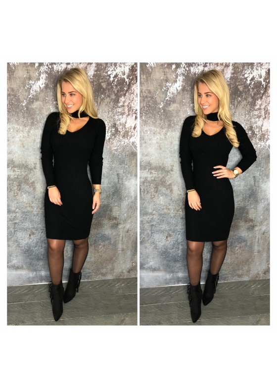 Choker Dress Black