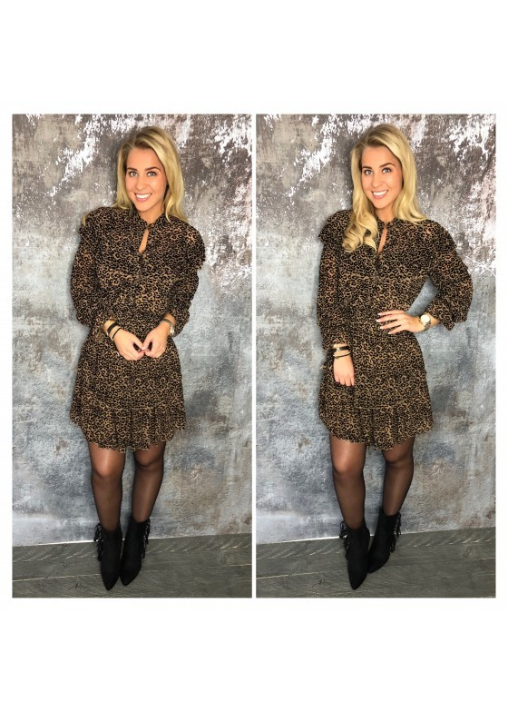 Leopard Dress Brown