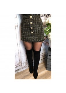 Skirt Tweet Black/Gold SALE