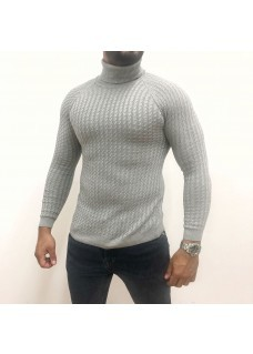 Men's Coll Sweater Grey