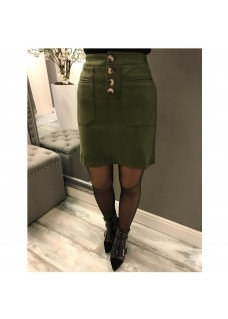 Suede Skirt Green SALE