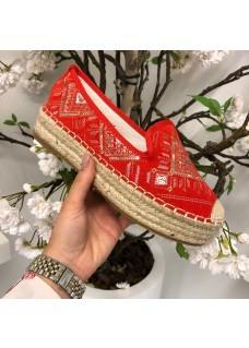 Espadrilles Coral-Red