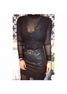 Leather Look Skirt Beda