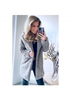 Teddy Coat Grey