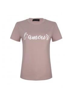 T Shirt L'amour Roze
