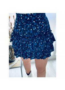 Skirt Leopard Blue