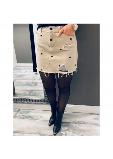 Skirt Star Beige