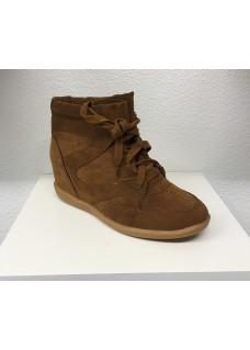 B Sneaker Camel