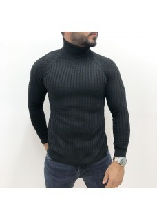 Men's Coll Sweater Black