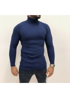 Men's Coll Sweater Darkblue