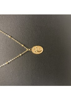 Necklace gold maan