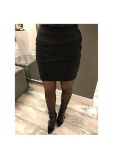 Suede Skirt Black SALE
