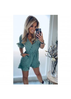 Playsuit Green/White  SALE