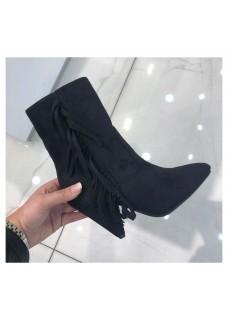 Boots Fringe Black