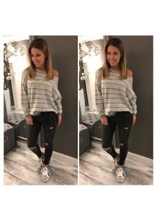 Sweater Grey/Silver / SALE