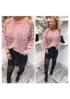 Sweater Oldpink Lace DAYDEAL
