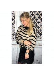 Sweater Zebra Black/Beige