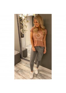 Josh V T-Shirt Dark Blush