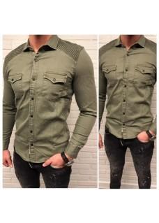 Men Blouse Green / SALE