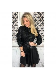 Leather Look Drole Dress