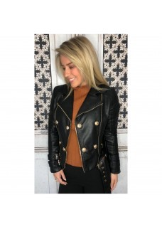 Leather Look Jacket Drole