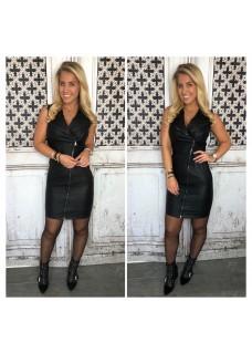 Zip Dress Black DAYDEAL