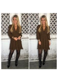 Leopard Dress Brown SALE