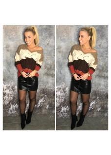 Sweater V BrickRed DAYDEAL