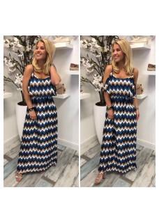 Dress Misso Brown/Blue SALE