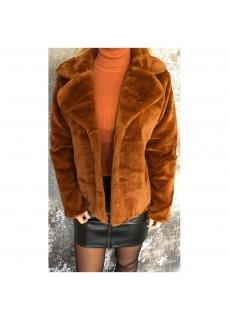 Fluffy Coat Brique
