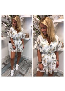 Jumpsuit White Flowers 1.0 SALE