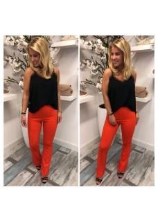 Flair Pants Red/Orange