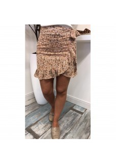Flower Skirt Brown