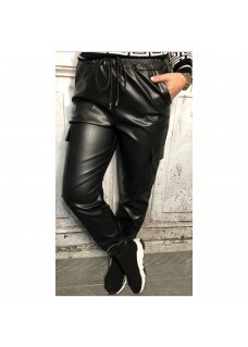 Leather Look Joggy Pants