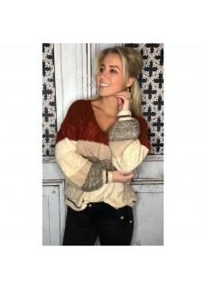 Sweater Glam Brique / Creme