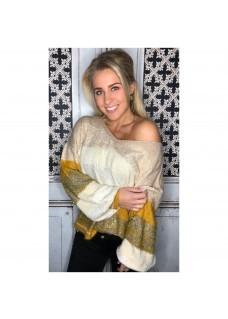 Sweater Glam Creme/Oker