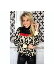 Leopard Sweater Creme