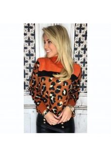 Leopard Sweater Orange
